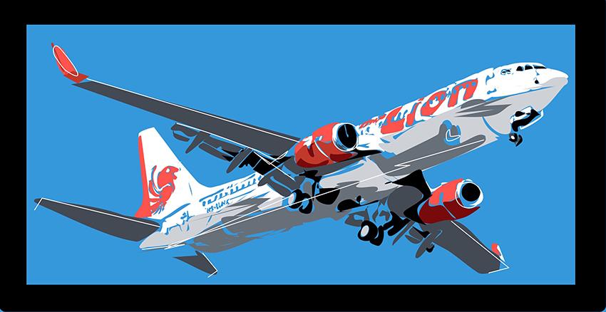 Boeing 737 разбился над Яванским морем.